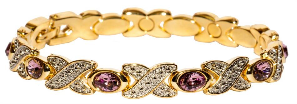 Simulated Alexandrite - Magnetic Therapy Bracelet (BS-6)