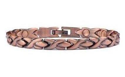 Copper XOXO - Magnetic Therapy Bracelet or Anklet (CL-8)