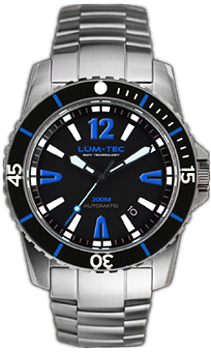 Lum-Tec Watch - 300M-4XL - 45mm Automatic Mens Diver w/ Stainless Steel & Rubber - DISCONTINUED