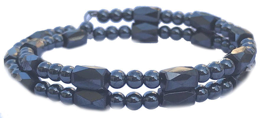 All Hematite Small Wrap Around - Magnetic Therapy Bracelet-Anklet (HB-27) - DISCONTINUED