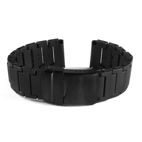 ArmourLite - Replacement Black Polyurethane Bracelet IPU400 for Isobrite Watches (24mm)