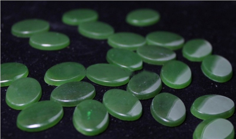 Genuine Natural Nephrite Jade Oval Flat Cabochon