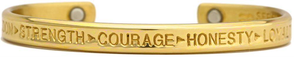 Courage Brass - Sergio Lub Copper Magnetic Therapy Bracelet - Made in USA! (lub781) - DISCONTINUED