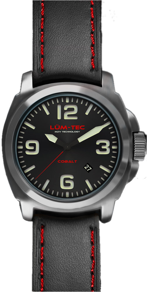 Lum-Tec Watch - M Series - M63-XL (44mm) Cobalt Automatic Mens w/ Two Straps - DISCONTINUED