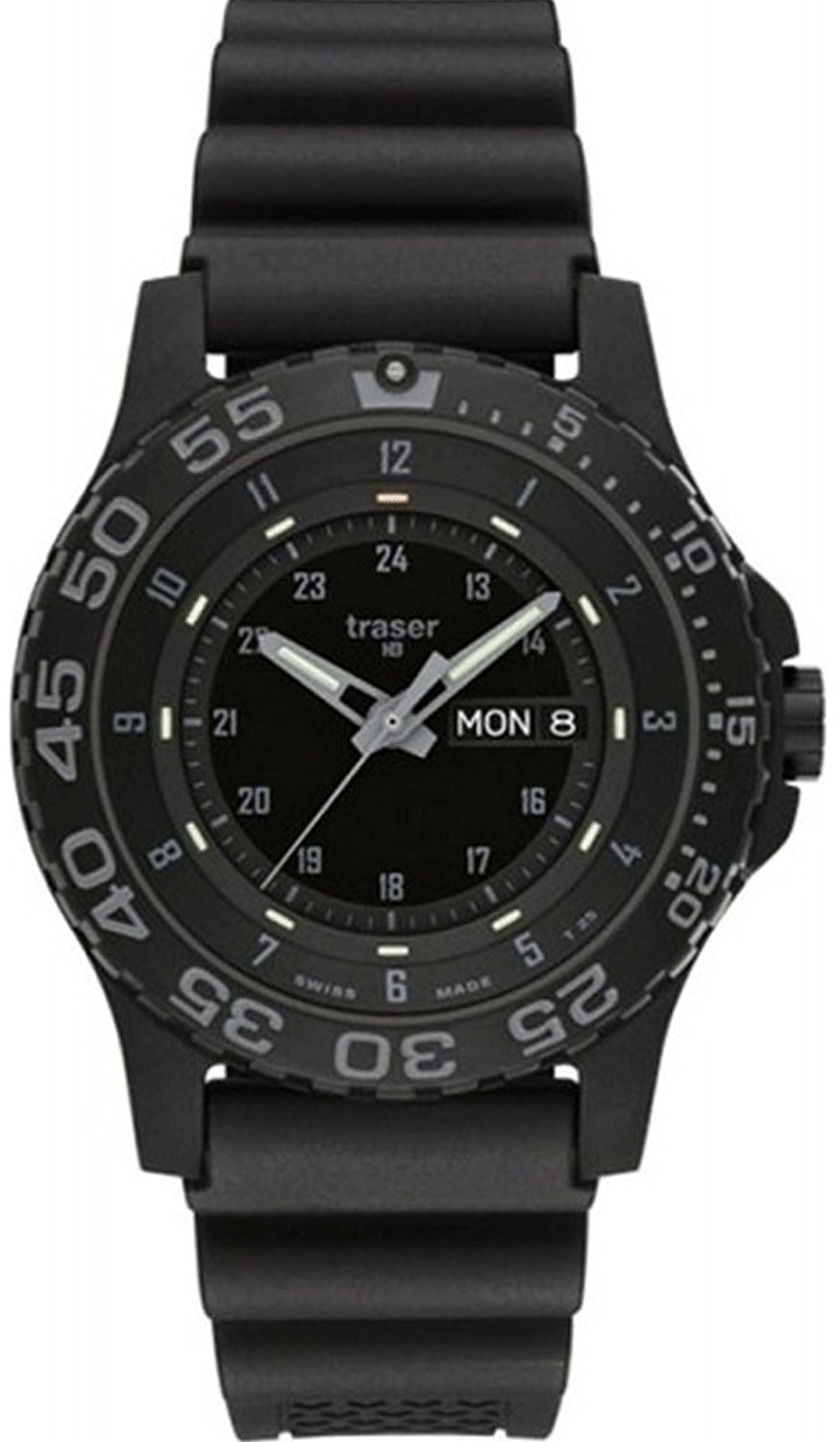 Traser Tritium Watch - Tactical Collection - P 6600 Shade w/ Rubber Strap - 104207