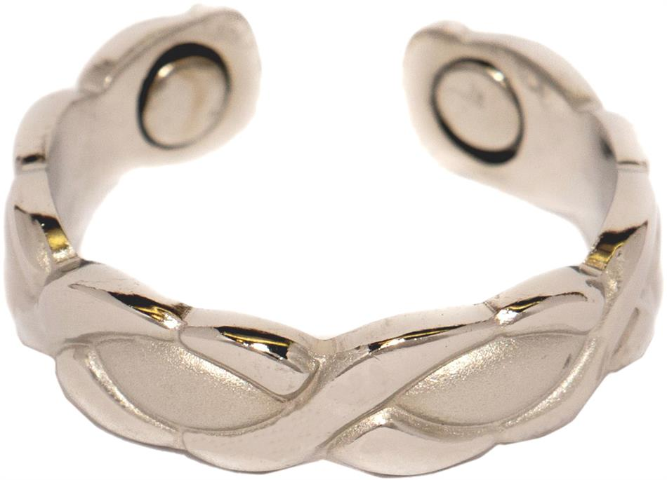 Silver XOXO - Silver Plated Magnetic Therapy Ring (R08)