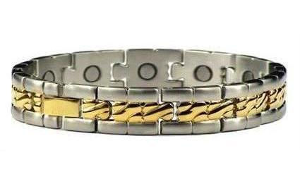 Elite Collective - Stainless Steel Magnetic Therapy Bracelet or Anklet (SS-11)