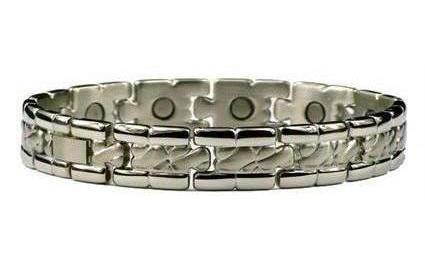 Vogue - Stainless Steel Magnetic Therapy Bracelet or Anklet (SS-72)