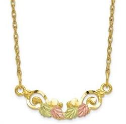 10k Tri-color Black Hills Gold Necklace 10BH631-19