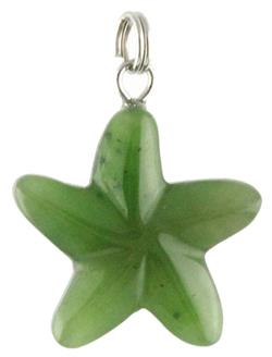 Genuine Natural Nephrite Jade Starfish Pendant