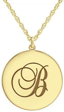 Alison & Ivy - Script Disc Initial Necklace - Customizable Jewelry Collection