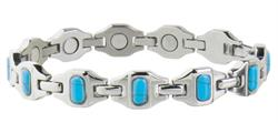 Sabona Lady Bright Stainless Turquoise Magnetic - Ladies Bracelet