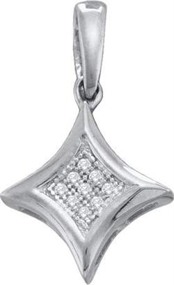 0.02ctw Diamond Fashion Pendant 10K White Gold