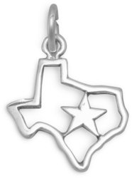 Texas with Star Charm 925 Sterling Silver