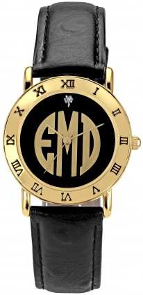 Alison & Ivy - Golden Block Monogram Goldtone Watch 32mm - Customizable Jewelry Collection