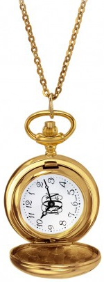 Alison & Ivy - Ladies Goldtone Necklace/Pocket Watch 26mm - Customizable Jewelry Collection