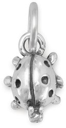 Small Ladybug Charm 925 Sterling Silver