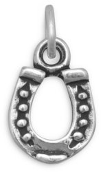 Horseshoe Charm 925 Sterling Silver