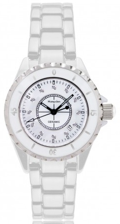 Alison & Ivy - Ladies White Ceramic Watch 34mm - Customizable Jewelry Collection