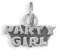 Party Girl Charm 925 Sterling Silver