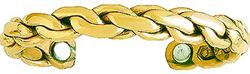 Golden Chain - Sergio Lub Copper Magnetic Therapy Bracelet - Made in USA! (lub795) - DISCONTINUED