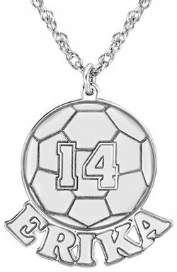 Alison & Ivy - Soccer Ball Necklace 16x20mm - Customizable Jewelry Collection