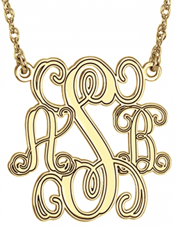 Alison & Ivy - Traditional Monogram Personalized Necklace 18mm - Customizable Jewelry Collection