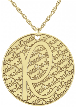Alison & Ivy - Recessed Pattern Initial & Name Necklace 30mm - Customizable Jewelry Collection