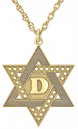 Alison & Ivy - Textured Star Of David Necklace 22mm - Customizable Jewelry Collection