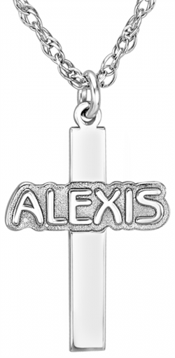 Alison & Ivy - Personalized Cross Necklace 13x18mm - Customizable Jewelry Collection