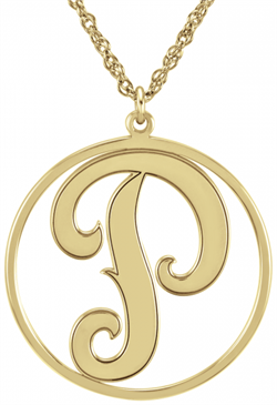 Alison & Ivy - Cutout Initial Necklace 20mm - Customizable Jewelry Collection