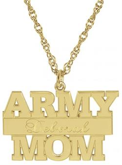 Alison & Ivy - Army Personalized Pendant Necklace 14x24mm - Customizable Jewelry Collection