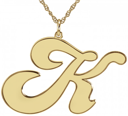 Alison & Ivy - Groovy Initial Necklace 28x42mm - Customizable Jewelry Collection