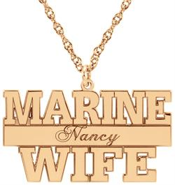 Alison & Ivy - Marine Personalized Pendant Necklace 16x29mm - Customizable Jewelry Collection