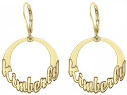 Alison & Ivy - Cutout Discs Name Earrings 25mm - Customizable Jewelry Collection