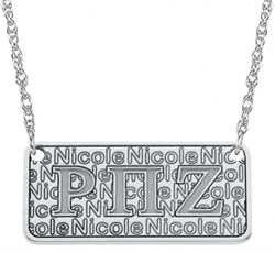 Alison & Ivy - Greek Letters Name Plate Necklace - Customizable Jewelry Collection