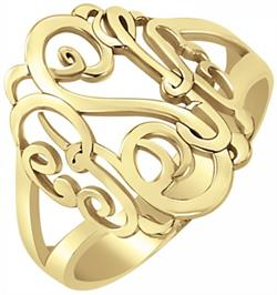 Alison & Ivy - Classic Monogram Ring 18mm - Customizable Jewelry Collection