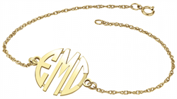 Alison & Ivy - Block Monogram Chain Bracelet 20mm - Customizable Jewelry Collection