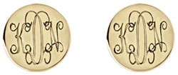 Alison & Ivy - Interlocking Monogram Stud Earrings 10mm - Customizable Jewelry Collection