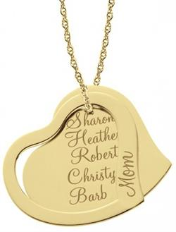 Alison & Ivy - Mothers Heart Necklace w/Names 26mm - Customizable Jewelry Collection