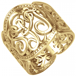 Alison & Ivy - Classic Cigar Band Monogram Ring 18mm - Customizable Jewelry Collection
