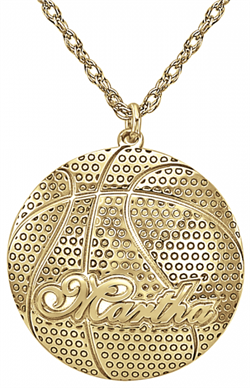 Alison & Ivy - Basketball w/Name Necklace - Customizable Jewelry Collection