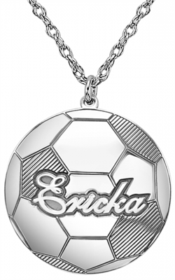 Alison & Ivy - Soccer Ball w/Name Necklace - Customizable Jewelry Collection