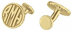 Alison & Ivy - Round Block Monogram Cufflinks 18mm - Customizable Jewelry Collection