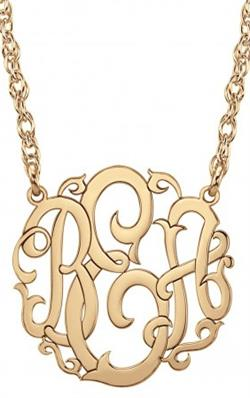 Alison & Ivy - Scripted Monogram Necklace 15mm - Customizable Jewelry Collection