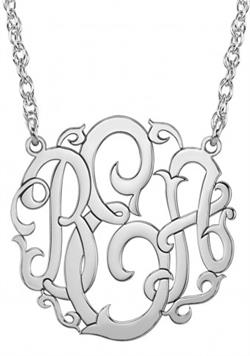 Alison & Ivy - Scripted Monogram Necklace 25mm - Customizable Jewelry Collection