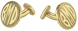 Alison & Ivy - Round Block Monogram Diagonal Design Cufflinks 18mm - Customizable Jewelry Collection