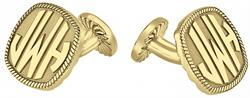 Alison & Ivy - Cushion Block Rope Monogram Cufflinks 18mm - Customizable Jewelry Collection