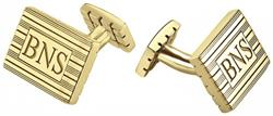 Alison & Ivy - Rectangle Monogram Cufflinks 18x13mm - Customizable Jewelry Collection