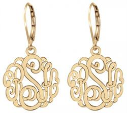 Alison & Ivy - Small Classic Monogram Leverback Earrings 20mm - Customizable Jewelry Collection